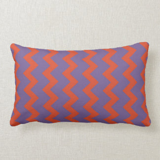Chevron zigzag pale natural warm red bright purple throw pillow
