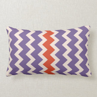 Chevron zigzag pale pink bright purple red pillow