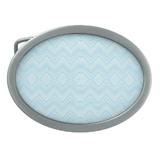 Chevron ZigZag Pattern aqua Oval Belt Buckle