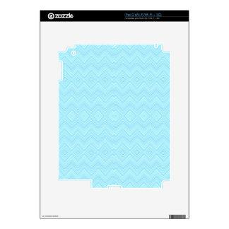 Chevron ZigZag Pattern, aqua Skin For The iPad 2