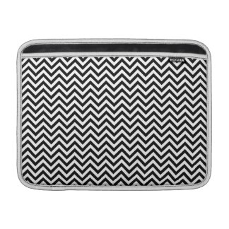 Chevron Zigzag Pattern Black and White MacBook Air Sleeves