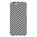 Chevron Zigzag Pattern Black and White iPhone 6 Case