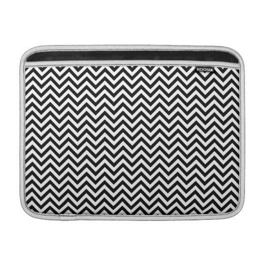 Chevron Zigzag Pattern Black and White Sleeve For MacBook Air