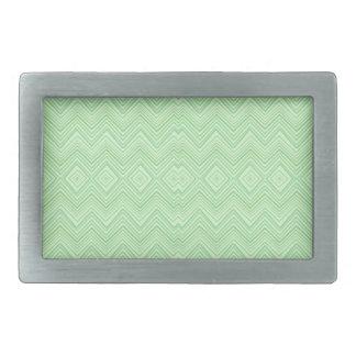chevron zigzag pattern light green rectangular belt buckles