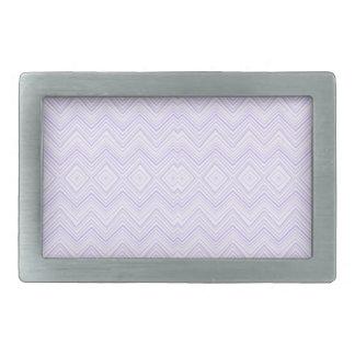 chevron zigzag pattern light lilac rectangular belt buckle