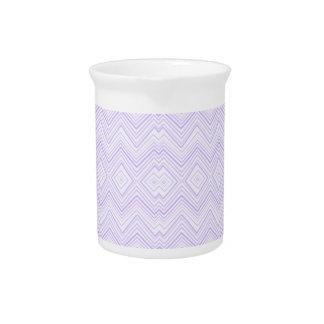 chevron,zigzag,pattern light lilac beverage pitchers