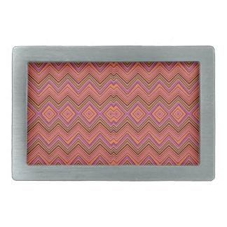 chevron zigzag pattern peach belt buckle