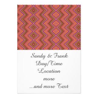 chevron zigzag pattern peach card