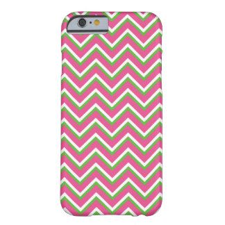 Chevron Zigzag Pattern Pink and Green iPhone 6 Case