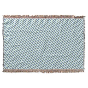 Beach Themed Chevron zigzag pattern two tone denim blue cream throw blanket