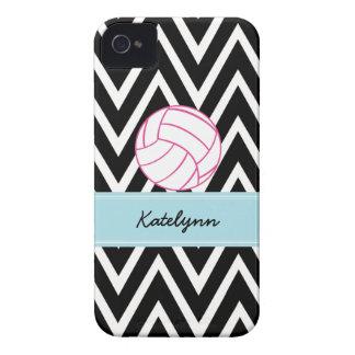 Chevron Zigzag Pink Volleyball iPhone 4 Case