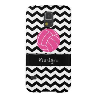 Chevron Zigzag Pink Volleyball Samsung Galaxy Case