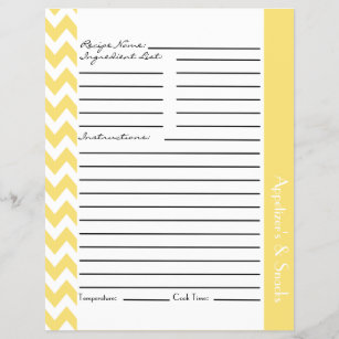 recipe sheets gifts on zazzle