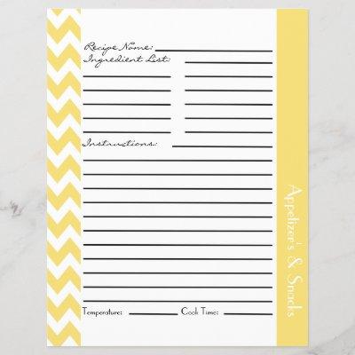 chevron zigzag striped recipe sheets gray zazzle com