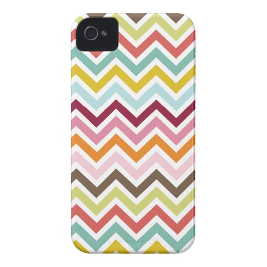 Chevron Zigzag Stripes iPhone 4 Case