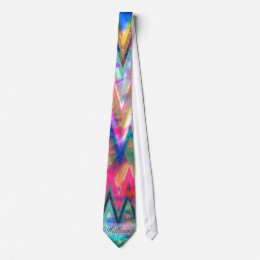 chevron zigzag tie-dye faux glitter watercolours neck tie