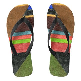 Chevrons abstract design flip flops. flip flops