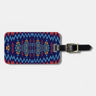 Chevrons and rhombus abstract design luggage tag