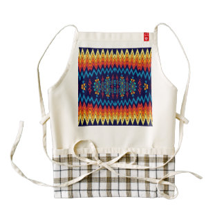 Chevrons and rhombus abstract design zazzle HEART apron