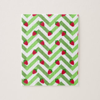 Chevrons and Strawberries Jigsaw Puzzle