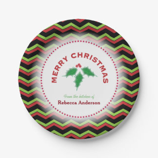 Chevrons, From the Kitchen of, Christmas Baking Paper Plate