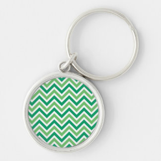 Chevrons green zigzag retro pattern, gift key chain