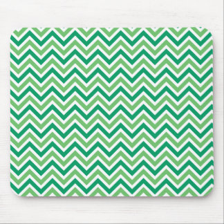 Chevrons green zigzag retro pattern, gift mouse pad