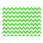 Chevrons of Bright Green and White Post Card