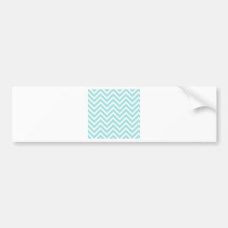 Chevrons Pattern Blue Bow Tie Office Party Destiny Bumper Sticker