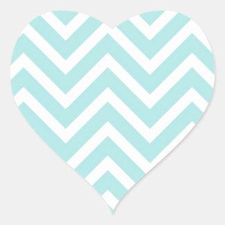 Chevrons Pattern Blue Bow Tie Office Party Destiny Heart Sticker