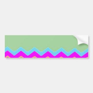 Chevrons Pattern Office Party Shower Destiny Bumper Sticker