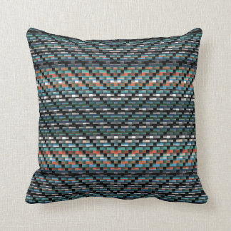 CHEVVED COLORS THROW PILLOW