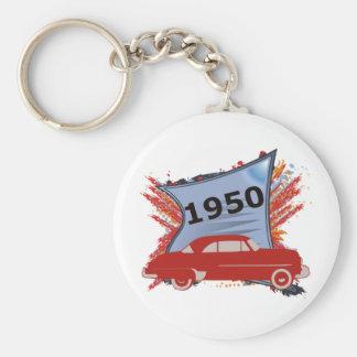 Chevy 1950 llavero redondo tipo pin