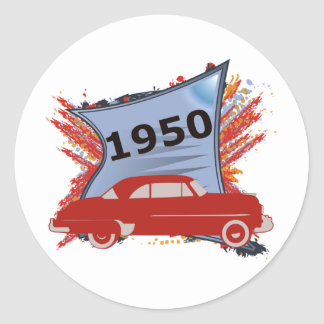 Chevy 1950 etiquetas redondas