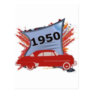Chevy 1950 tarjeta postal