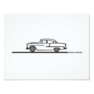 """Chevy 1955 de cuatro puertas invitación 4.25"""" x 5.5"""""""