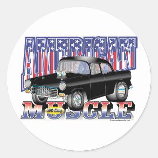 Chevy 1955 etiqueta redonda