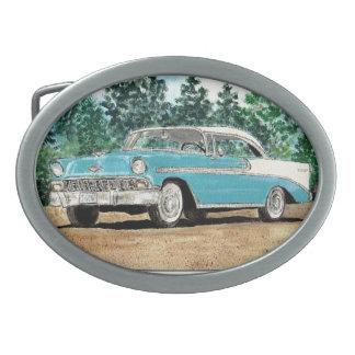 Chevy 1956 hebilla cinturon oval