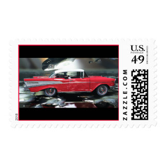 Chevy 1957 postage stamps