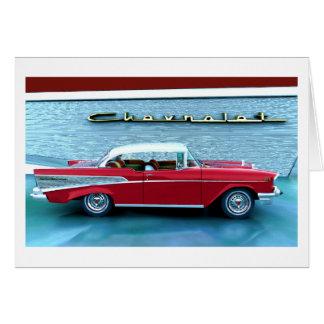 Chevy 1957 tarjeta de felicitación