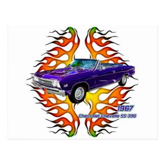 Chevy 1967 Chevelle por las camisetas del fractal Tarjeta Postal