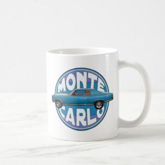 Chevy 1970 Monte Carlo azul claro Taza Básica Blanca