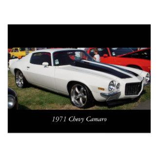 Chevy 1971 Camaro Tarjeta Postal