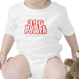 Chevy 396 horse power baby bodysuits