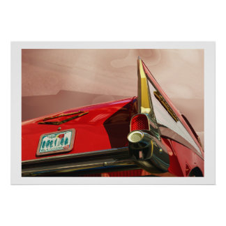 Chevy 57 Rear Tail Poster