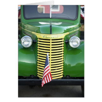 Chevy antiguo tarjeta de felicitación