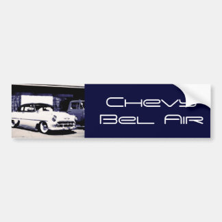Chevy Bel Air, 1950's, navy blue white, template Bumper Sticker