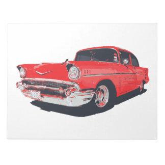 Chevy Bel Air 57 illustration notepad