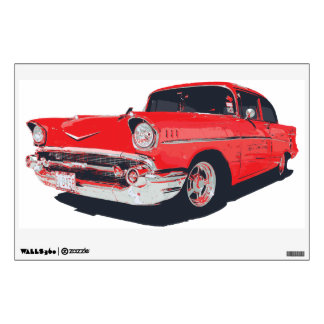 Chevy Bel Air 57 vector illustration Wall Decal