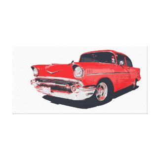 Chevy Bel Air vector illustration Canvas Print
